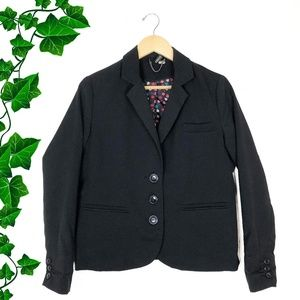 {H&M} Black Three Button Blazer w/ Pockets, sz. 10